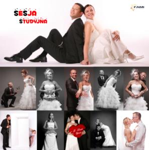 Fami fotografia ślubna dla wymagających Realizacje Ślubne Weselne Ślub Sesja Studyjna Pary Młodej